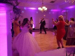 A wedding party is not going unless everyone is DANCING!